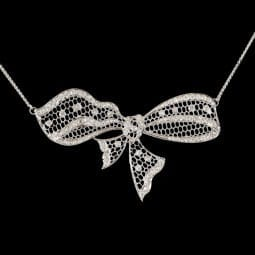 Art Deco Bow Necklace
