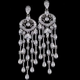 Diamond Chandalier Earrings