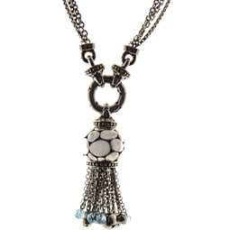 John Hardy Silver and Gold Tassle Pendant