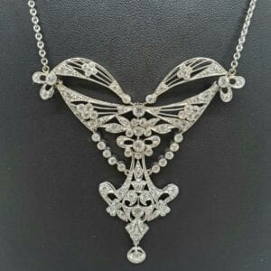 platinum Edwardian necklace